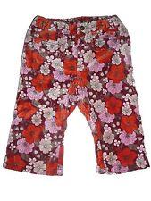 H & M tolle Hose Gr. 80 rot-orange mit Blumenmotiven !!