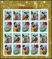 2005 The Art of DISNEY CELEBRATION Mint Sheet 20 37¢ Stamps 3912-15 Mickey Mouse