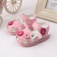 Toddler New Flowers Girls Sandals Lighted Soft-Soled Princess Baby Walker Shoes