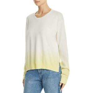 ATM Womens Ivory Dip Dye Boxy Crew Sweater Top S BHFO 2785