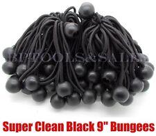 "(100) 9"" BLACK BALL BUNGEE Cord Heavy Duty Tarp Bungee Tie Down Strap Accessory"