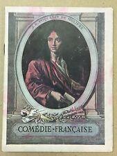 Programme COMEDIE FRANCAISE La double Inconstance Marivaux LA VIEILLE MAMAN 1934
