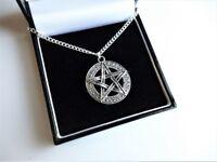 UK Pentagram Pentacle Star Druid Supernatural Witch Pagan Wicca Necklace Pendant