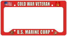 Cold War US Marine Veteran License Plate Frame