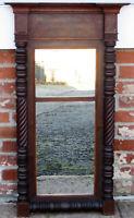 Antique Mahogany Federal Wall Mirror