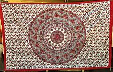 L@@K!NEW INDIAN MANDALA BED THROW WALL TAPESTRY BOHO HIPPIE  BEACH TWIN SIZE-M14