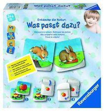 Ravensburger Was passt dazu Stoffbuch Stoffkarten Baby Spielzeug Kinder Spiel