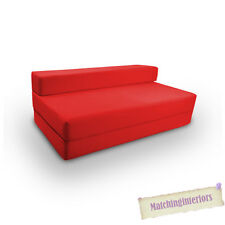 Red Budget Cotton Folding Chair Block Filled Double Z bed Fold Out Sofabed Bed