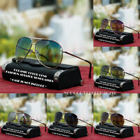 New Mens Women Oceanic Aviator Sunglasses Metal Frame Black Brown Driving Shades