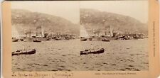 STEREOSCOPIE Stereoview NORVEGE PORT DE BERGEN NORWAY