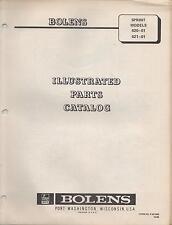 1969 BOLENS SPRINT SNOWMOBILE MODELS 620-02 &  621-01 PARTS MANUAL(101)