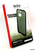 100% Genuine Tech21 D30 Impact Mesh Smokey Fitted Case For Htc One M8 T21-3949