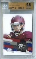 2014 Press Pass BLUE #30 Johnny Manziel First Ever ROOKIE BGS 9.5 GEM Browns !
