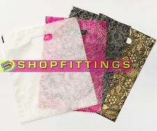 More details for strong plastic polythene carrier bags heena design carrier bags patch handle
