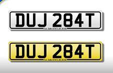 DUJ 284T classic 1978 number plate all fees inc DU DJ ex Ferrari cricket bat