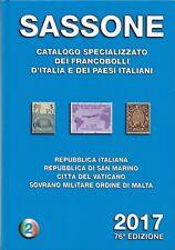 CATALOGO SASSONE SPECIALIZZATO Vol II 2017 Usato Ottime Condizioni