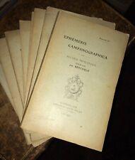 [CLOCHES]. EPHEMERIS CAMPANOGRAPHICA. Archéologie et histoire campanaires.8 fasc