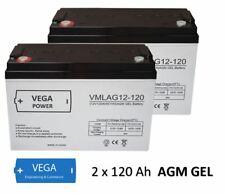 2 Stück 12V 120Ah AGM GEL Batterie Akku USV Solarbatterie Wohnmobil Boot C100
