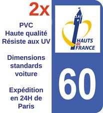 Sticker Autocollant immatriculation Adhésif Département 60 Oise Haut de France