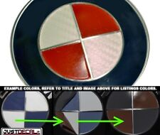 Carbon Fiber White & Red Vinyl Sticker Overlay COMPLETE SET FITS BMW Emblems