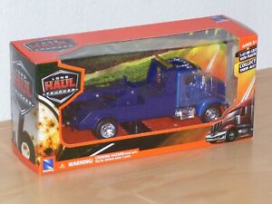 New Ray Dark Blue Tow Truck Die Cast Plastic Scale 1:43 Brand New Box