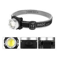 Super Bright USB Rechargeable Headlamp COB LED Headlight Head Light Flashlight