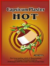 CAPSICUM PAIN PATCH X 10 HOT PAIN RELIEF PLASTERS   HERBAL 100% CHEMICAL FREE