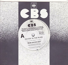 BLUE OYSTER CULT Dancin' In The Ruins / Shadow Warrior 45 - White Label PROMO
