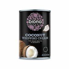 Biona Organic Coconut Whipping Cream 400ml (Pack of 6)