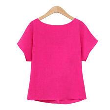 Elegant Womens Ladies Short Sleeve Casual Chiffon Shirt Tops Blouse T-Shirt Wear