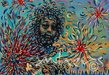 Jerry Garcia Grateful Dead singer oil on canvas from artist Image picture