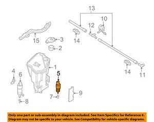 BMW OEM 00-06 X5 Windhsield Wiper-Washer Fluid Pump 67128362154