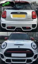Mini F56 Front & Rear Light Covers Piano Gloss Black - 2014 + (Light Ring Trims)