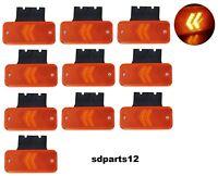 10 x 24V 12V Spie Luminosi Frecce Fanali Arancio con Staffe Rimorchio Camion