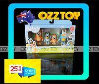 4 Figure Set ~ BLUEY, Bingo, Chilli & Bandit Family Figurine Toy,buy more save