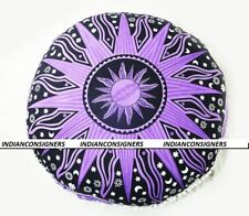 Top Quality Mandala Purple Floor Cushion Cover Home Decor Ombre 100 % Cotton