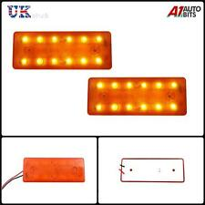 2 piezas 12v 12 LED PARTE DELANTERA TRASERO Ámbar Naranja Luces de marcaje