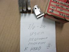 A USED SET OF GEOMETRIC TYPE -3/8-24 R.H. CHASERS FOR A 9/16 K HEAD. SEE PICS