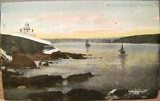 Irish Postcard Youghal Harbour Lighthouse Ships County Cork Ireland Eire go Brat
