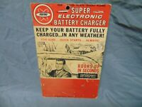 """1963 FEDTRO Super Electronic Battery Charger Advertise Display billboard 11"""" x 7"""