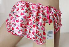 Pretty Pink 100% SILK Satin Heart Bikini Knickers S