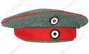 German Prussian M1907 FIELD GREY CAP Kratzchen - All Sizes - WW1 Repro Army Hat