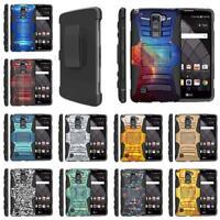 For LG Stylo Stylus Series Phone Case Holster Belt Clip Rugged Armor Combo