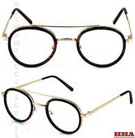 Men Women Classic Vintage LENNON Style Clear Lens EYEGLASSES Tortoise Gold Frame