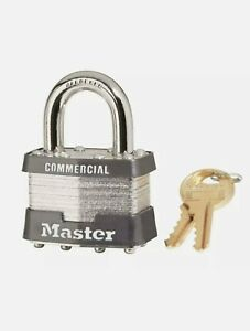 Master Lock-1KA MASTER LOCK 1-3/4 In. (44mm) Wide Laminated Steel Pin Tumbler...