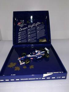 Onyx Formula 1 282 Williams Renault FW18 1//43 Diecast Racing Car NIB F1