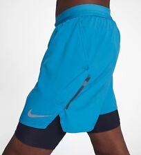 "Nike Flex Stride 2 In 1 Running Shorts 5""  Equator Blue Reflective 904456 Large"