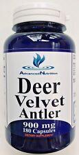 VELVET DEER ANTLER 900mg 180 Caps Deer Velvet Antler Max Strength Gluten FREE