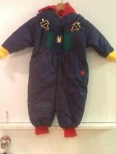 Gymboree girls boys snowsuit one piece detachable hood Red Green Blue Small NWT