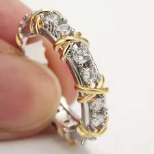 Hot Sale Fashion 925 Silver Sapphire Ring Wedding Party Women Jewelry Size 6